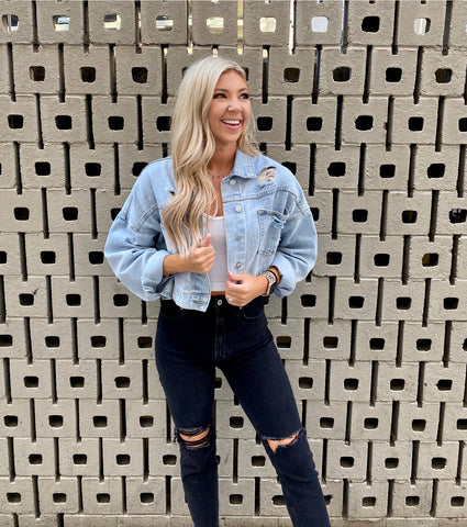 Rhinestone Stunner Denim Jacket