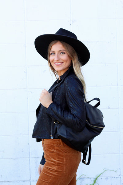 Mini Black Backpack