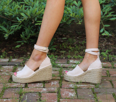 Walk Away- Nude Wedges