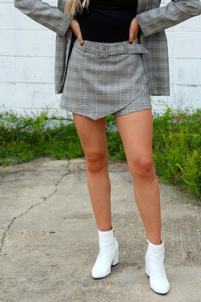 Show 'Em Who's Boss Plaid Skort
