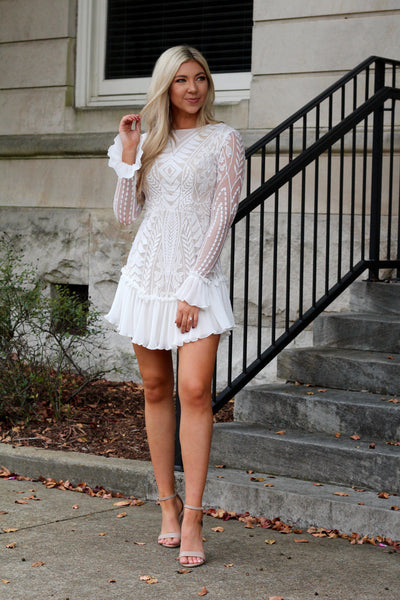 I'm Gonna Love You Forever Lace Long Sleeve Mini Dress