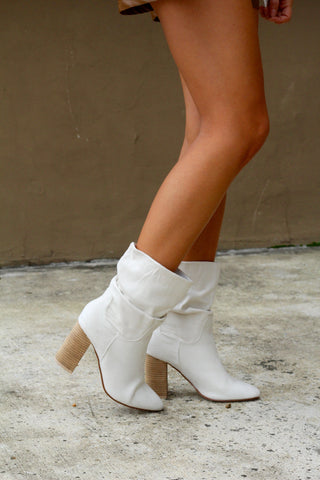 Walk My Way Bootie- Ivory