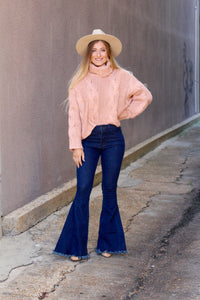Cover Me Up Cropped Sweater- Dusty Rose