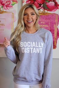 Socially Distant Sweatshirt- Gray