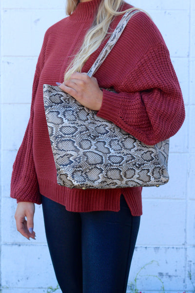 The Weekender Tote- Python