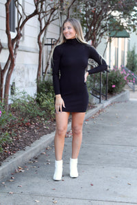 Stole Your Heart Black Bodycon Mini Dress