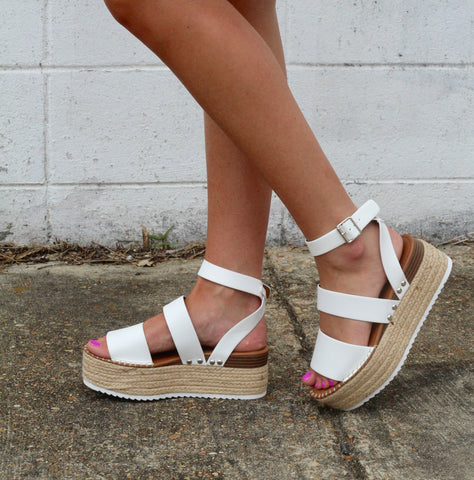 Little White Lies Espadrille Wedges