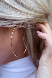 Gold Hoops- Thin