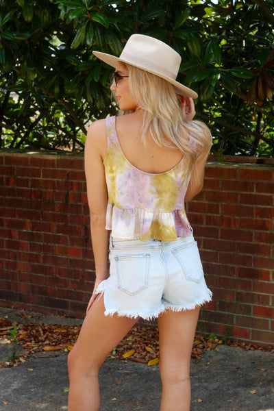Summer Feelings Top- Mustard/Lilac