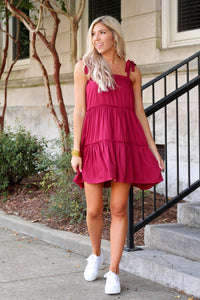 Got That Fall Feeling Dress- Maroon