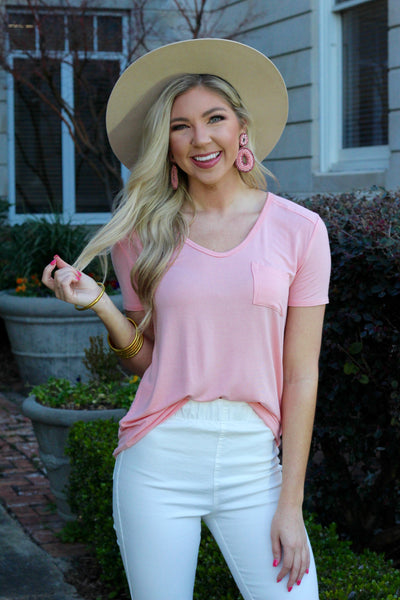 Not Your Basic Light Pink Tee