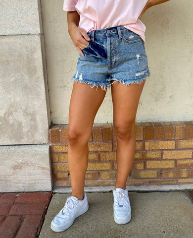 Fall in the South High Waisted Denim Cutoffs