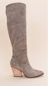 Edgy Cowgirl Boots- Grey
