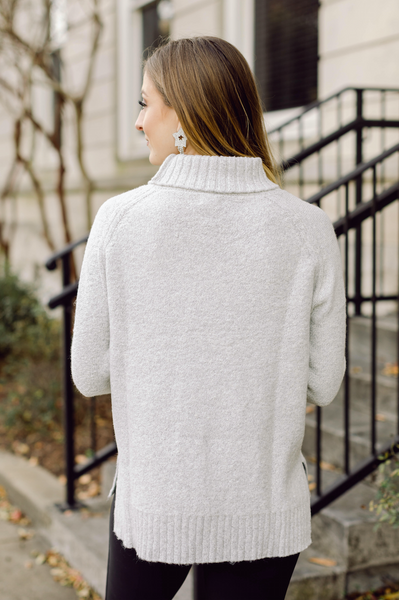 Cold Nights Ash Turtleneck Sweater