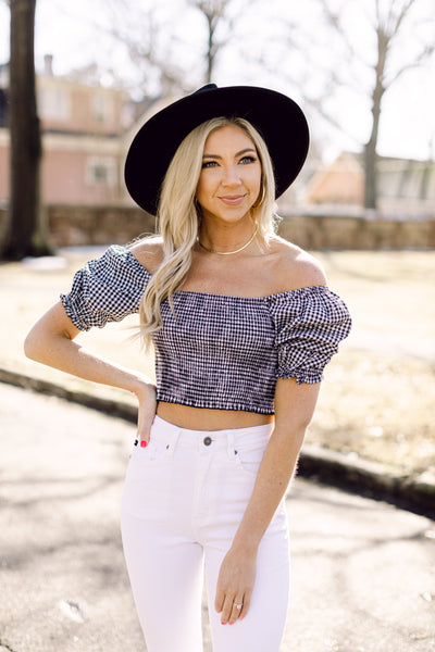 Catching Feelings Gingham Top