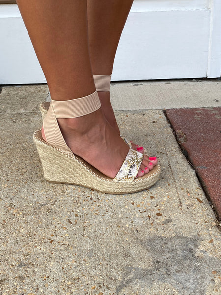 Metallic Dreams Snakeprint Wedges