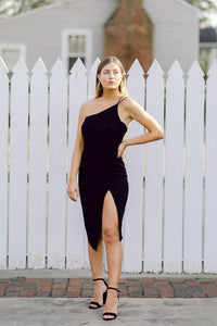 Not Your Date High Slit Dress, Black