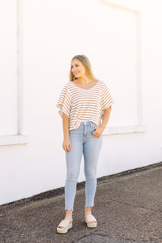 Straight Down to Business Cropped Skinny Jeans