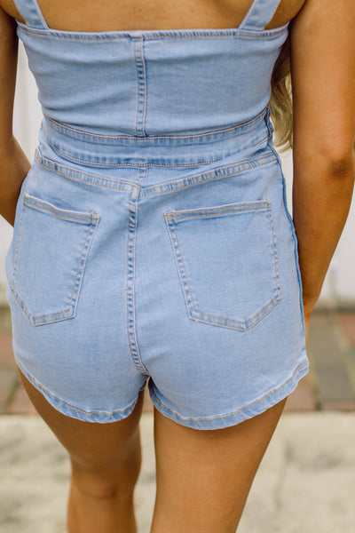 She's So Classic Romper, Denim