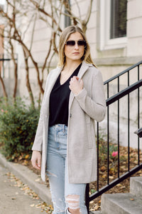 Upper East Side Coat- Light Grey