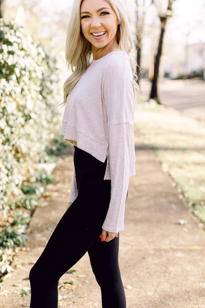 Not So Basic Oatmeal Knit Top