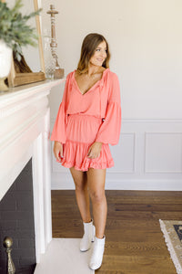 Buddy Love Zozo Dress- Coral