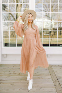 Don't Sugar Coat It Mauve Wrap Dress