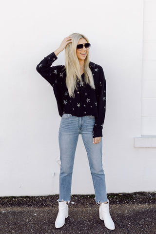 Made of Stars Button Down Top