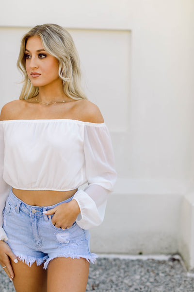 Beach Days off-the-shoulder Top