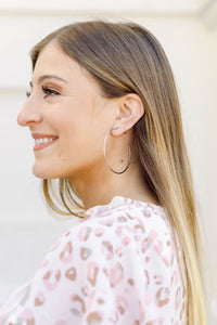Large Silver Thin Hoops