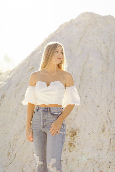 Lover Girl Puff Sleeve Top, Ivory