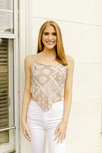 What A Cutie Bandana Top, Beige
