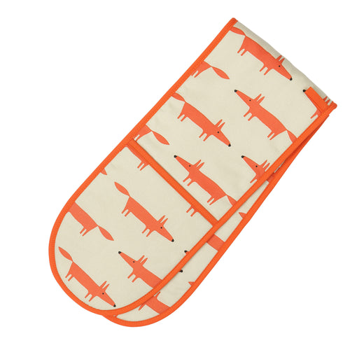 Mr Fox Double Oven Gloves - Stone