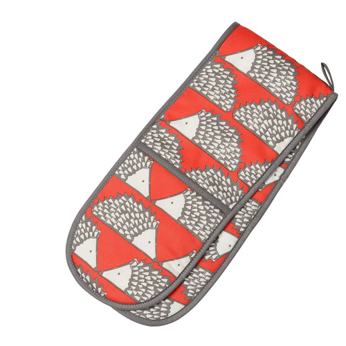 Spike Double Oven Gloves - Red