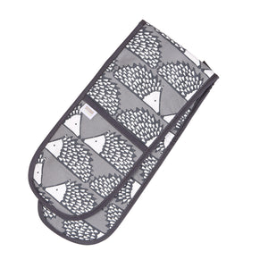 Spike Double Oven Gloves - Grey