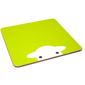 Peep Melamine Tablemat Green