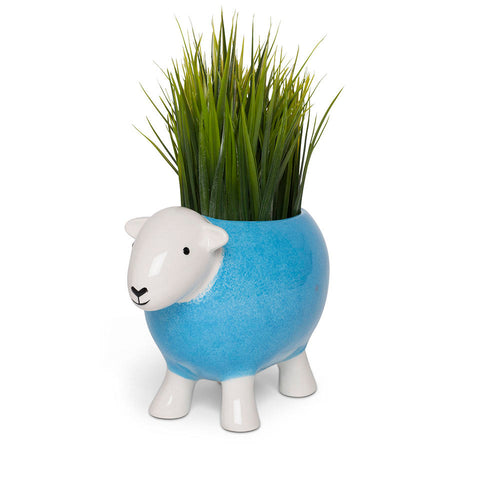 Stoneware Planter Blue