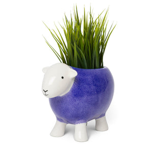 Stoneware Planter Purple