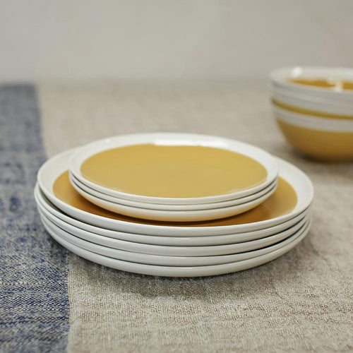 Datia Mustard Dinnerware Set 12 Pieces