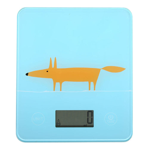 Mr Fox Digital Kitchen Scales - Blue