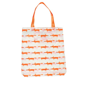 Mr Fox Folding Shopping Bag - Stone