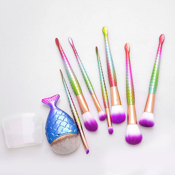Fishtail Makeup Brush Sets