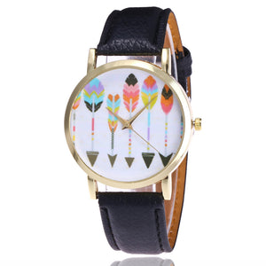 Arrow Leather Band Analog Quartz Wrist Watches