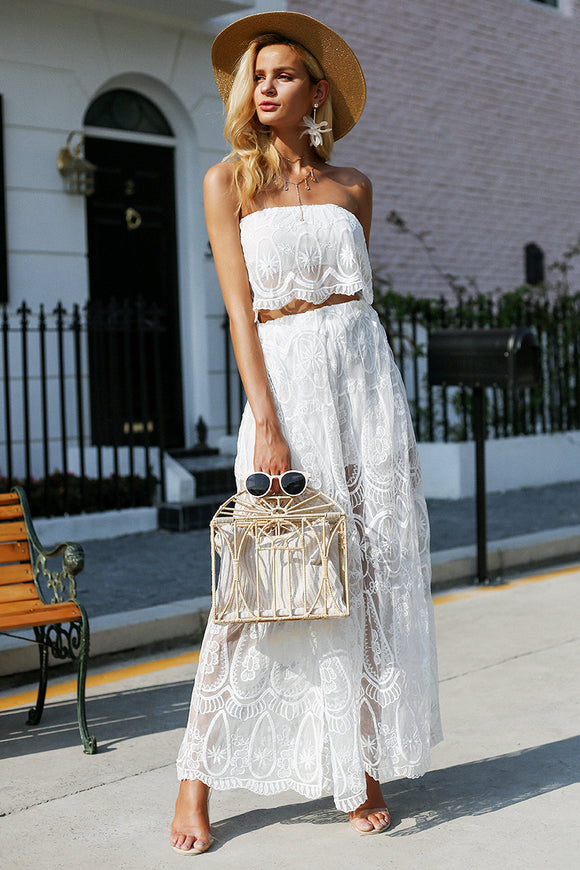 Lovely in Lace - 2pc Jumpsuit