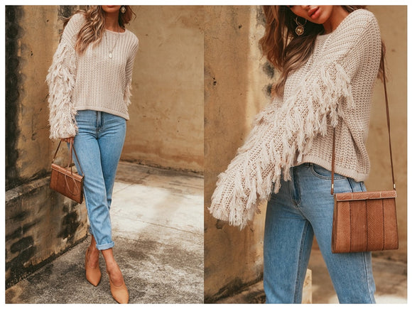 Emma Fringe Sweater