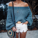 Boho Shoulder Sweater