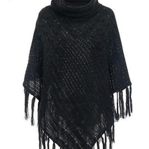 Stay Warm Tassle Poncho