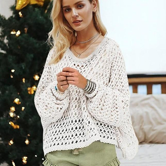Ashley Lantern Sleeve Sweater