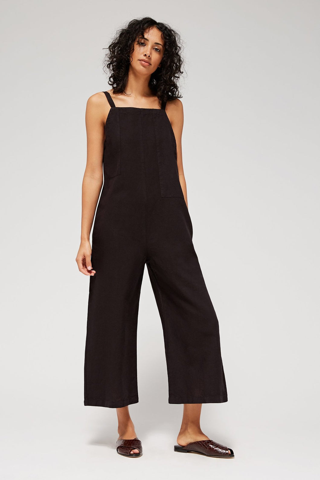 LACAUSA - Brooks Jumpsuit in Tar