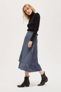 LACAUSA - Fairfax Marley Skirt in Steel floral
